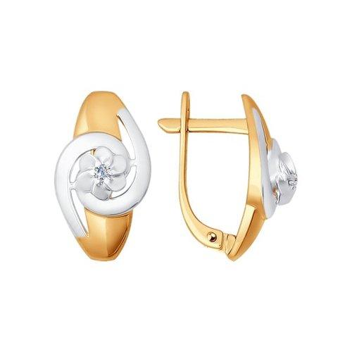 Серьги из золота с бриллиантами (1020917) - фото