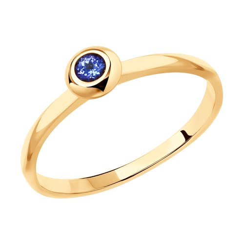 Кольцо из золота с танзанитом