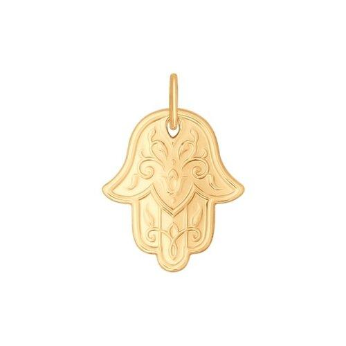 Подвеска «Рука Фатимы» из золота (034840) - фото