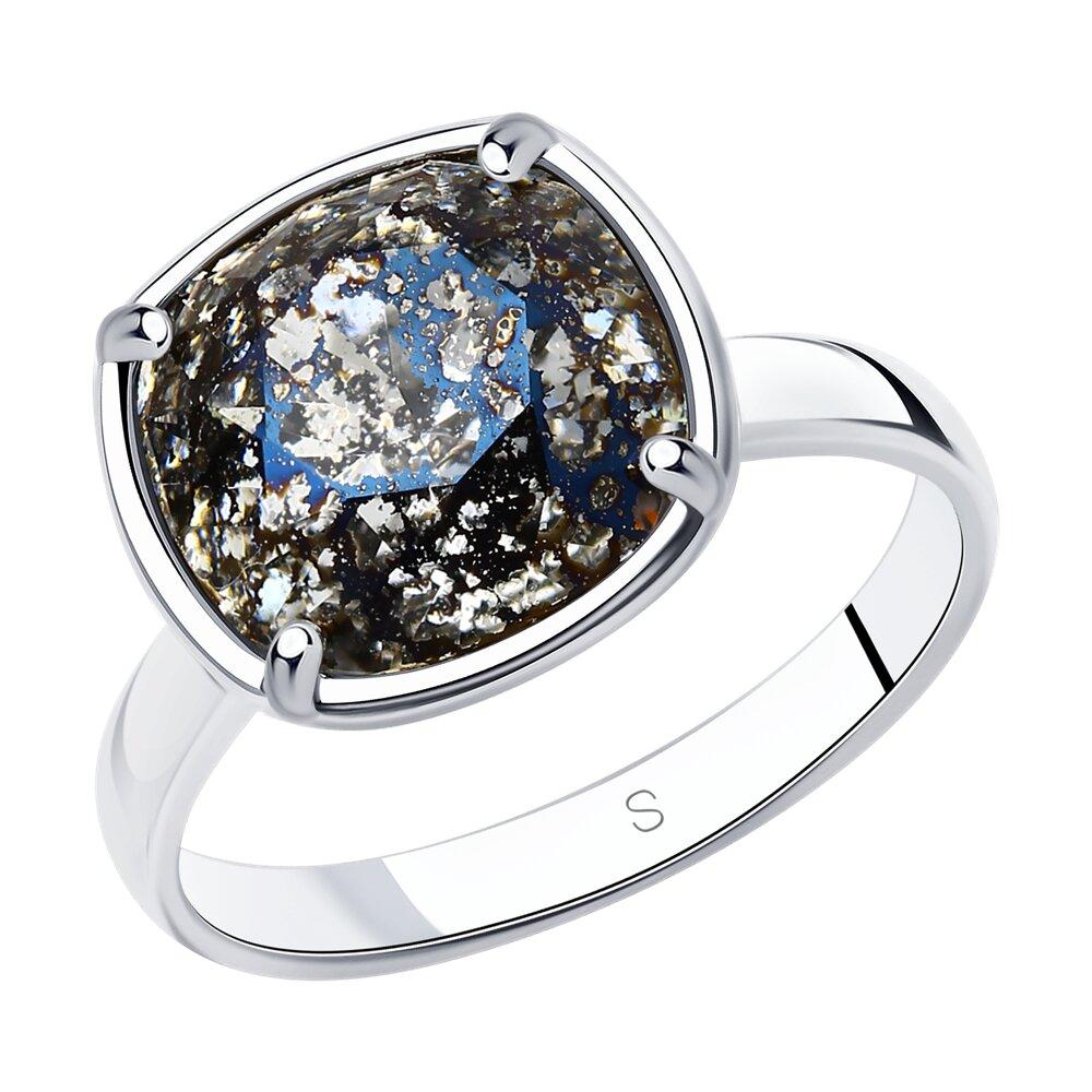 Фото - Кольцо SOKOLOV из серебра с чёрным кристаллом Swarovski sokolov кольцо из серебра с чёрным кристаллом swarovski 94012037 размер 19 5