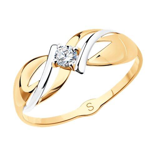 Кольцо из золота с фианитом 017988 sokolov фото