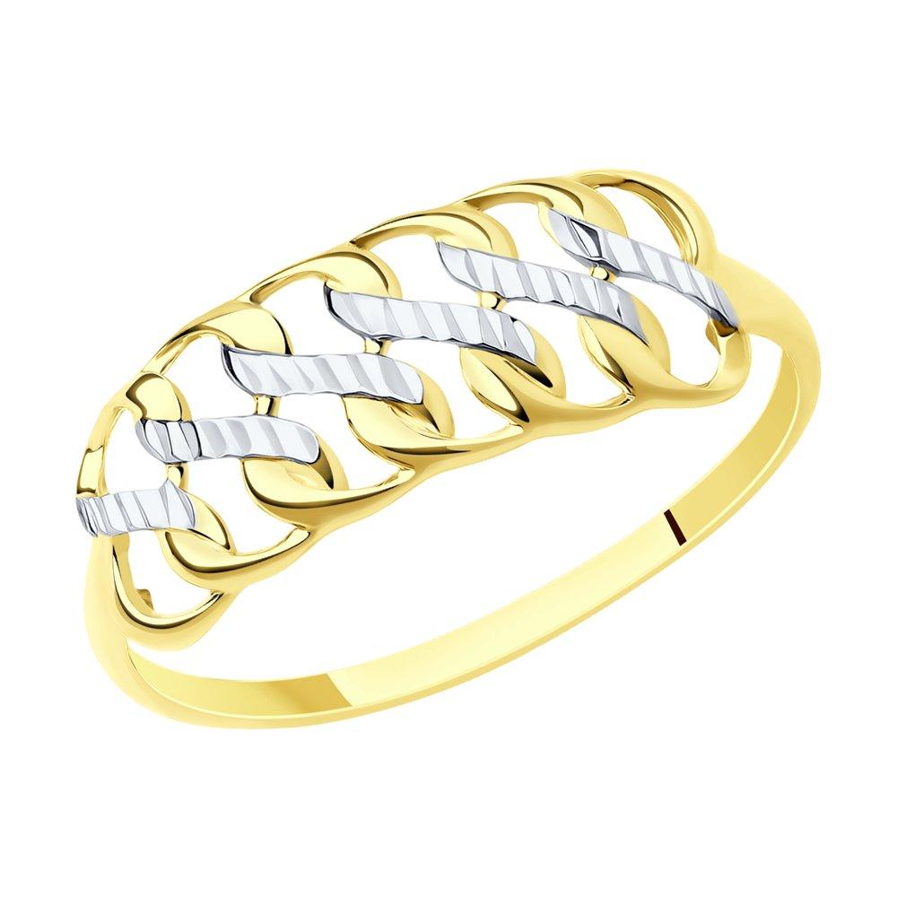 Фото - Кольцо SOKOLOV из желтого золота с алмазной гранью кольцо sokolov из золота линии с алмазной гранью