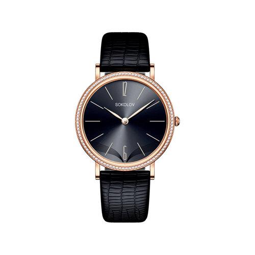 Женские золотые часы (210.01.00.100.08.01.2) - фото №2