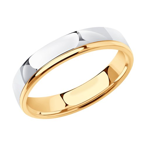 Обручальное кольцо из комбинированного золота (110156) - фото