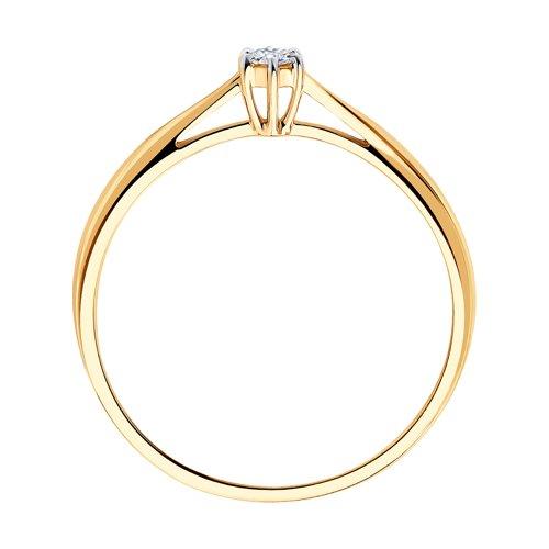 Помолвочное кольцо из золота с бриллиантом (1011345) - фото №2
