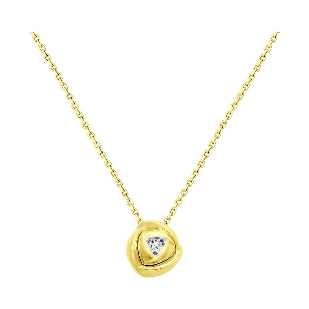 Колье SOKOLOV из желтого золота с бриллиантом бронницкий ювелир колье из желтого золота 54319559 45 см 2 98 г
