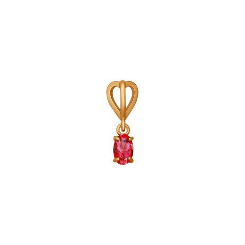 Подвеска SOKOLOV из золота с красным фианитом