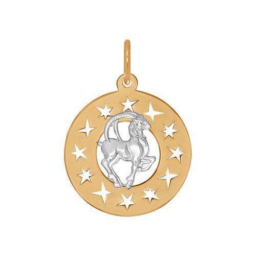 Подвеска «Знак зодиака Козерог» SOKOLOV из комбинированного золота win 02 10зеркало серебр знак зодиака козерог