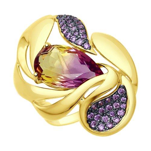 Кольцо из желтого золота (714791-2) - фото