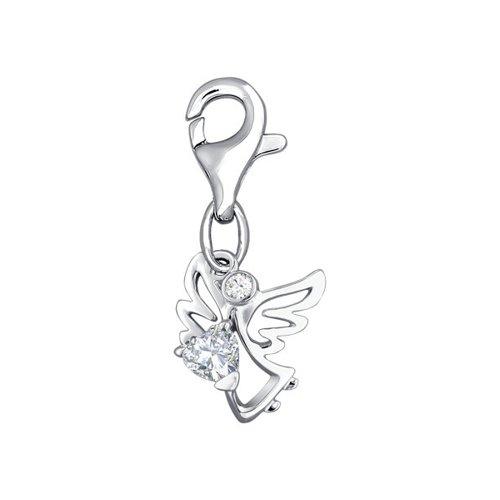 Серебряная подвеска с фианитами «Ангел» SOKOLOV подвеска на цепочке с открыткой ангел