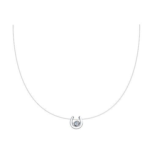 Колье из серебра с фианитом (94070275) - фото