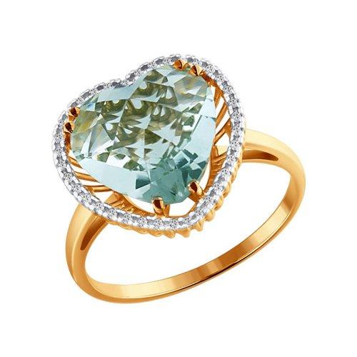 Кольцо с аметистом в форме сердца цена