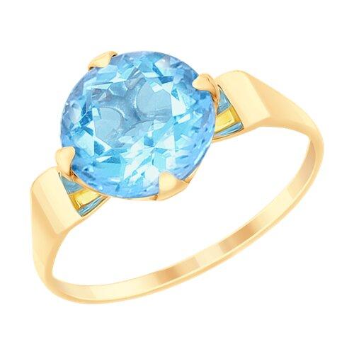 Кольцо из золота с топазом (715158) - фото