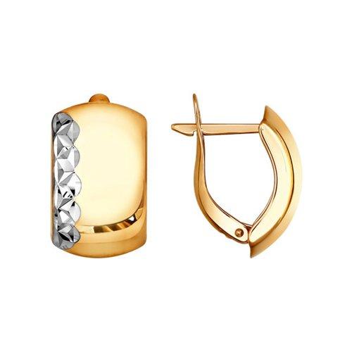Серьги из золота с алмазной гранью (022270) - фото
