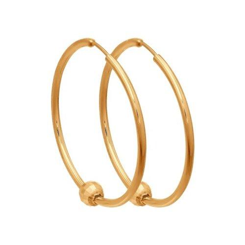Серьги конго из золота (140114) - фото