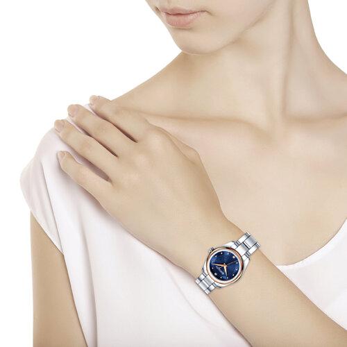 Женские часы из золота и стали (158.01.71.000.04.01.2) - фото №3