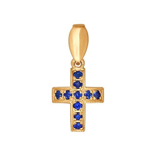 Крест из золота с сапфирами
