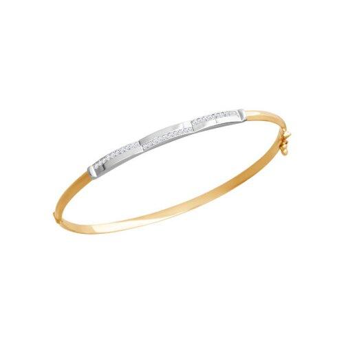 Жёсткий браслет из комбинированного золота