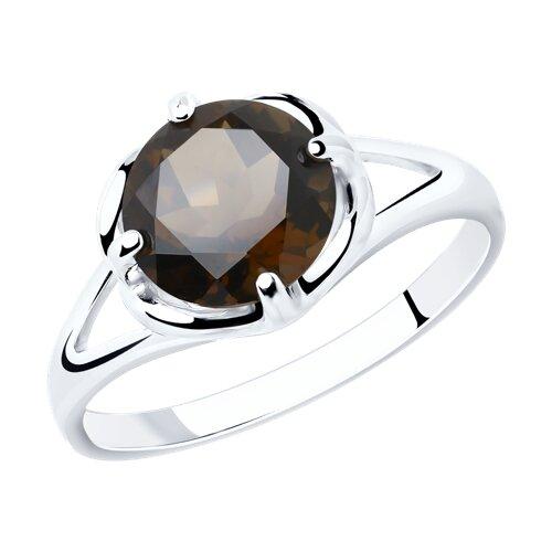Кольцо из серебра с раухтопазом (92011789) - фото