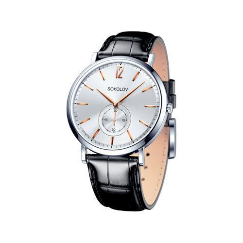 Мужские серебряные часы (151.30.00.000.03.01.3) - фото