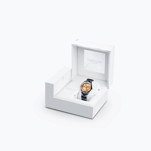 Женские часы из золота и стали Black Edition (140.01.72.000.03.01.2) - фото №4