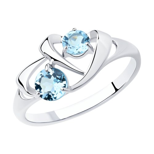 Кольцо из серебра с топазами (92011765) - фото