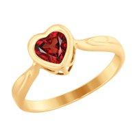Кольцо из золота с красным Swarovski Zirconia