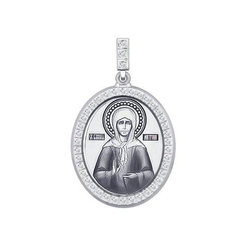 Серебряная нательная иконка «Святая блаженная Матрона Московская» SOKOLOV серебряная нательная иконка святая блаженная матрона московская