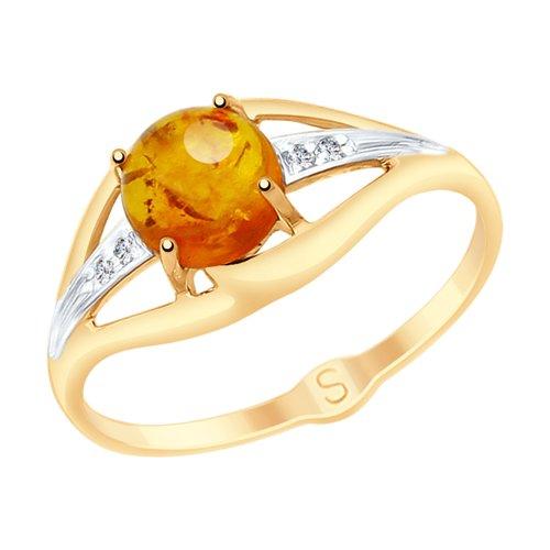 Золотое кольцо с янтарем Классика: купить, цены в Москве. золотые кольца от  интернет магазина BLESK39.RU | 500x500
