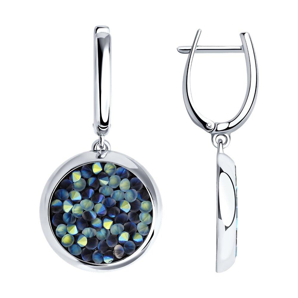 Серебряные серьги с кристаллами Swarovski SOKOLOV фото