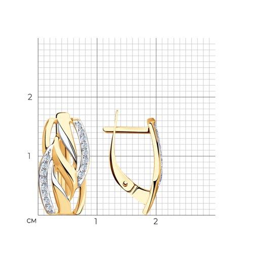 Серьги из золота с фианитами 028202 SOKOLOV фото 2