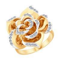 Кольцо «Роза» с бриллиантами