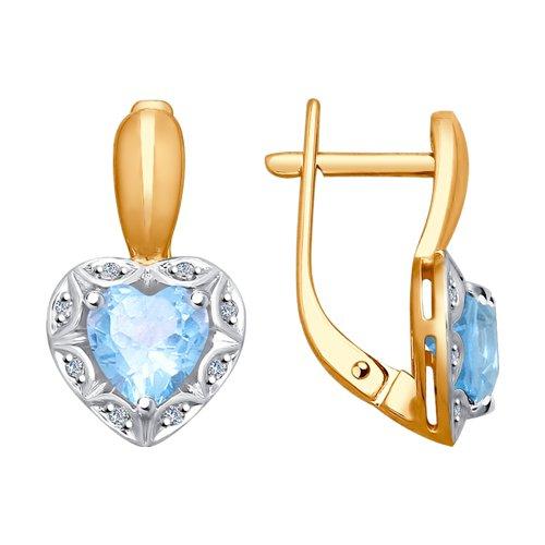 Серьги SOKOLOV из золота с бриллиантами и топазами серьги с топазами и бриллиантами из розового золота valtera 08981
