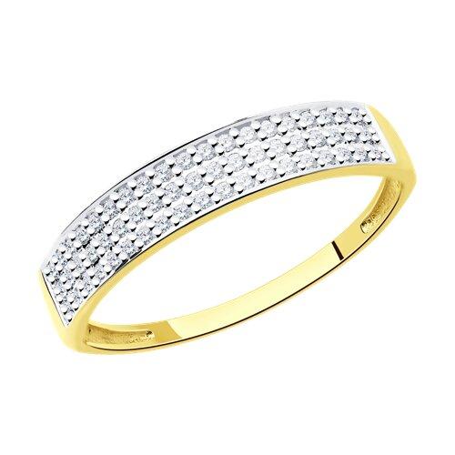 Кольцо из желтого золота с бриллиантами 1011545-2 sokolov фото