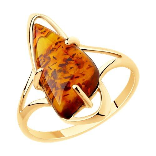 Роскошное кольцо из золота 585 пробы с янтарем, украшенным инталиями  «Одиссея» в интернет-магазине янтаря   500x500