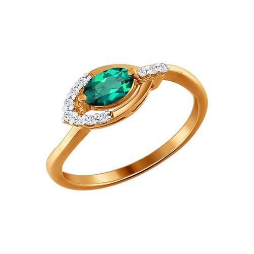 Кольцо SOKOLOV из золота с бриллиантами и изумрудом кольцо с изумрудом золотое к10616и