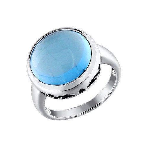 Кольцо из серебра с эмалью с топазом