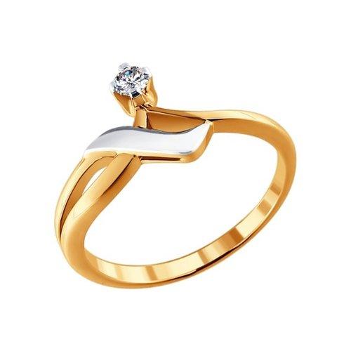 Комбинированное колечко с бриллиантом все цены