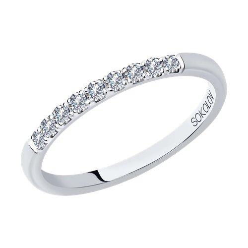 Кольцо из белого золота с бриллиантами (1112257-01) - фото