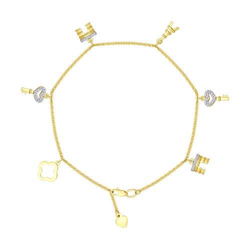 Браслет из желтого золота (050864-2) - фото