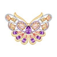 Брошь-бабочка из золота
