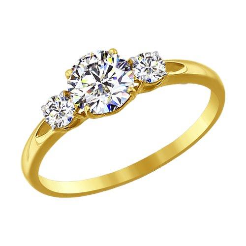 Кольцо из желтого золота (81010186-2) - фото