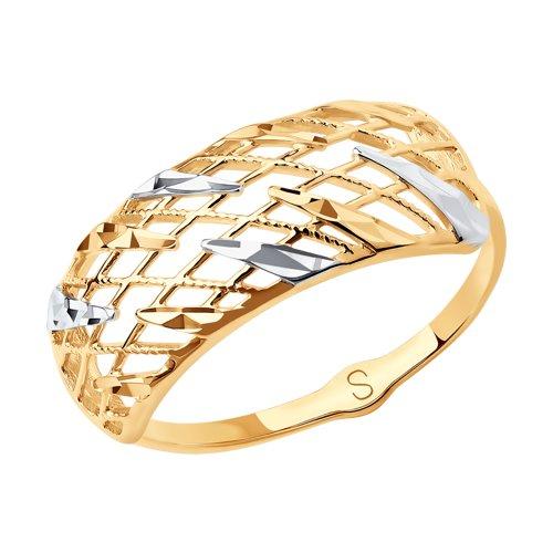 Кольцо из золота с алмазной гранью 018025 SOKOLOV фото