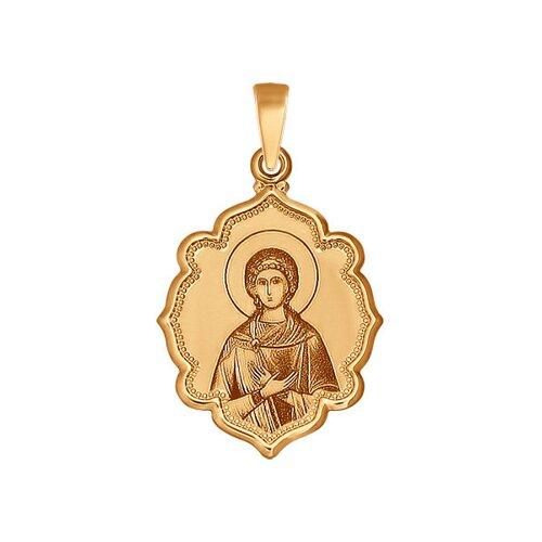 Золотая иконка «Святая мученица Любовь» SOKOLOV иконка святая мученица раиса sokolov