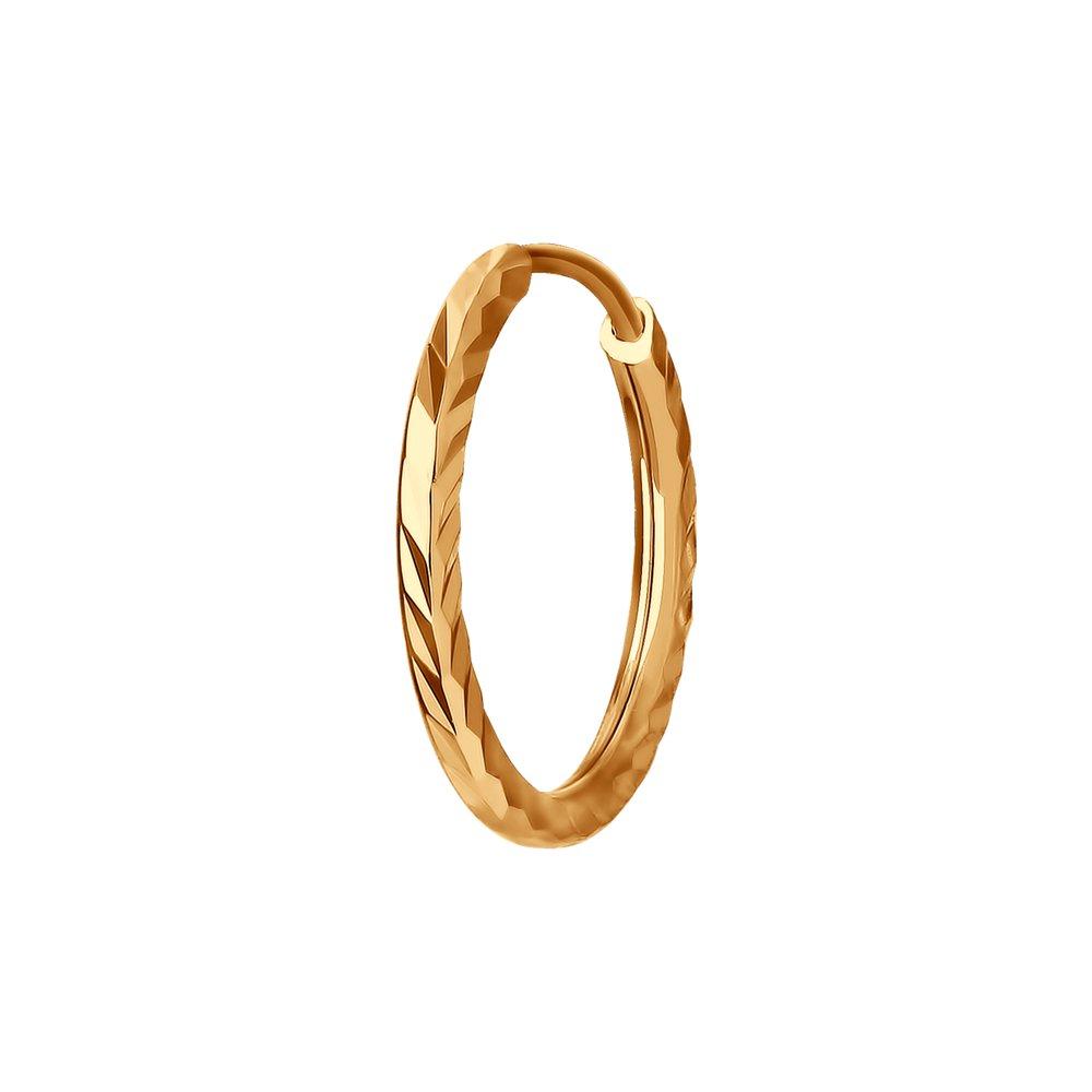 Одиночная серьга SOKOLOV из золота с алмазной гранью фото