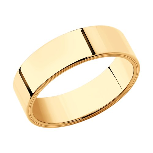 Обручальное кольцо из золота (110218) - фото