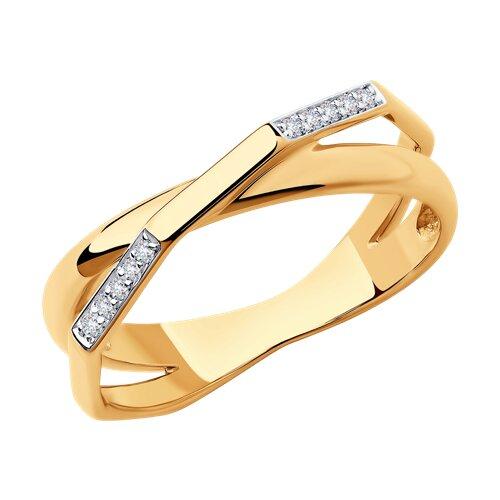 Кольцо из золота с бриллиантами (1011865) - фото