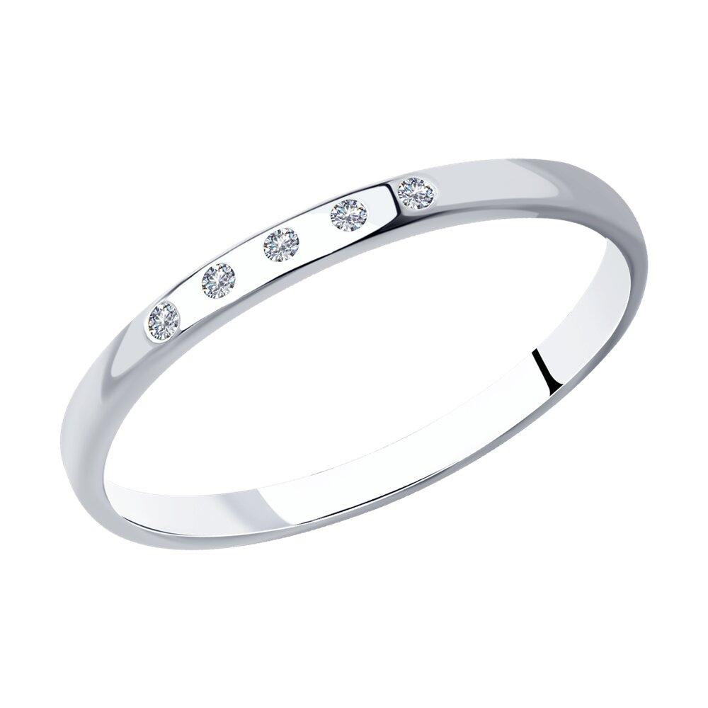 Классическое серебряное кольцо с фианитами SOKOLOV