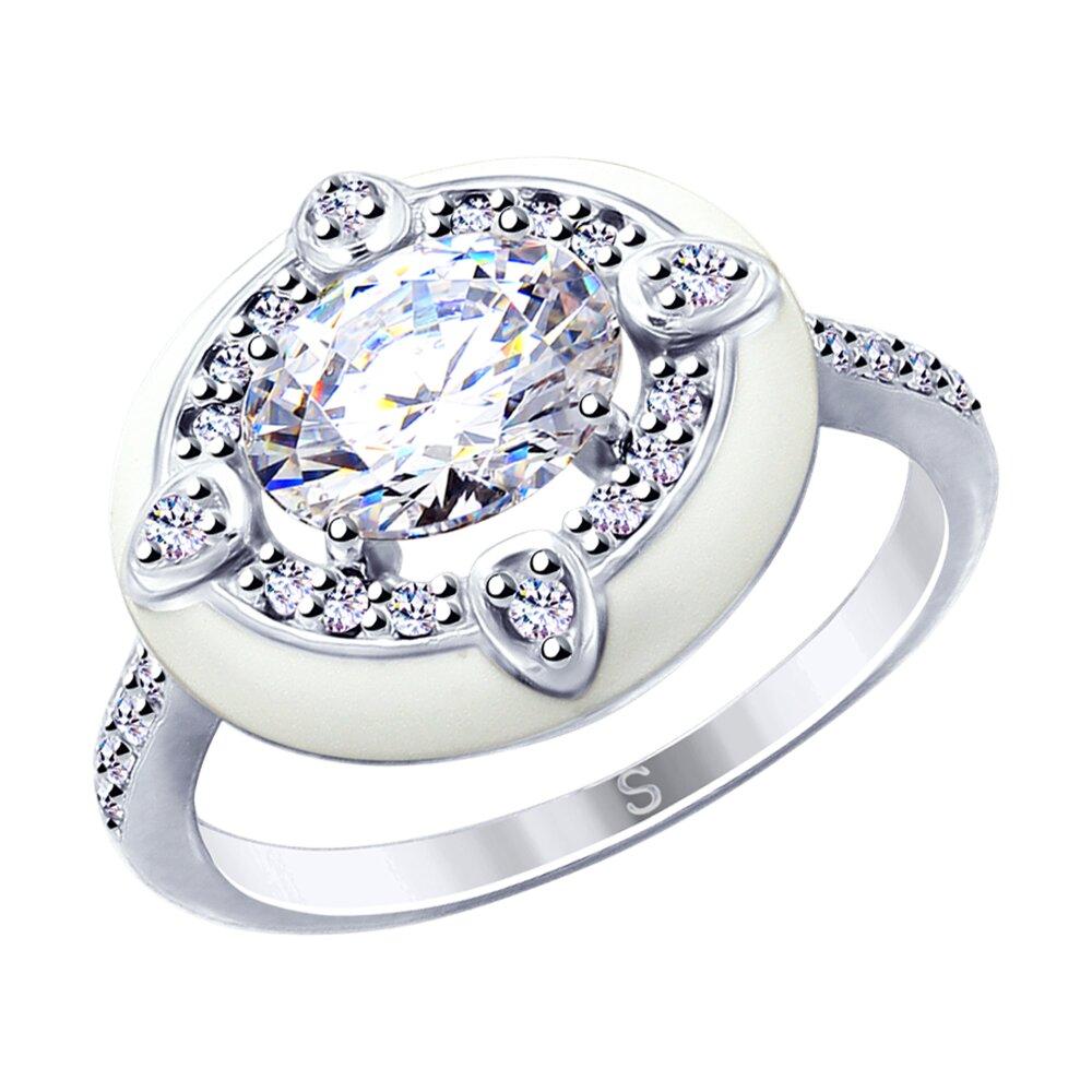 Кольцо SOKOLOV из серебра с эмалью и фианитами кольцо с фианитами и эмалью из серебра valtera 91731