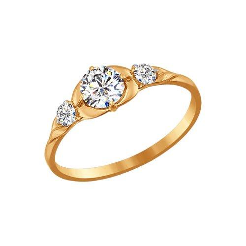 Помолвочное кольцо SOKOLOV из золота со Swarovski Zirconia